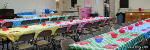 Strawberry Fest 2015 Hulling Tables Setup