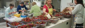 Strawberry Festival Kitchen Setup