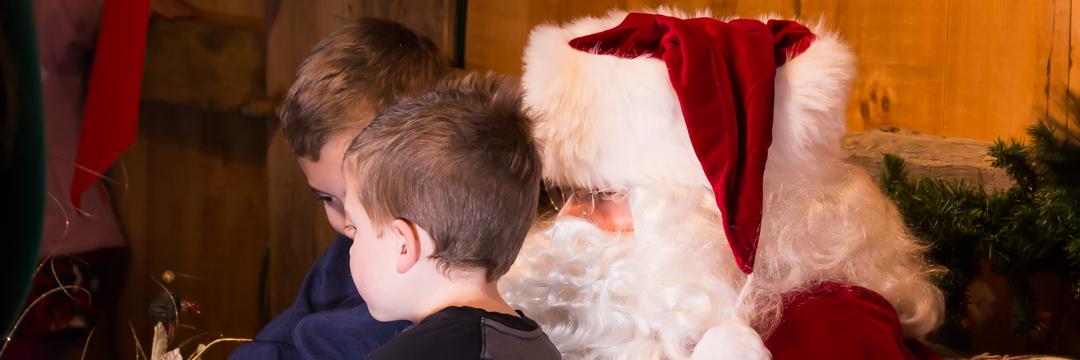 Children with Santa
