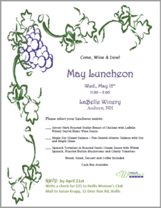 May 2021 Luncheon flyer